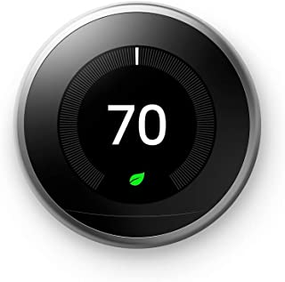 Google Nest Learning Thermostat - Programmable Smart Thermostat for Home - 3rd Generation Nest Thermostat - Works with Ale...