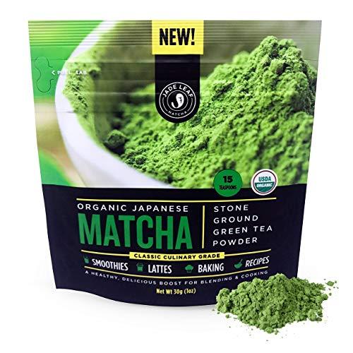 Jade Leaf Organic Matcha Green Tea Powder - Authentic Japanese Origin - Culinary Grade - Premium 2nd Harvest [1 oz]