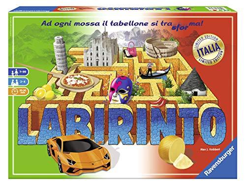Ravensburger 26793 Labirinto Italia, Gioco di Società, Versione Italiana, Family Game, 2-4 Giocatori, Età Consigliata 7+