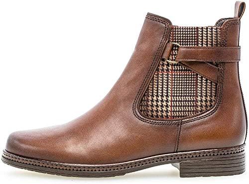 Gabor Damen Stiefelette 34.670, Frauen Chelsea Boots,Stiefel,Halbstiefel,Bootie,Schlupfstiefel,flach,Sattel(Eff)(Kombi),39 EU / 6 UK