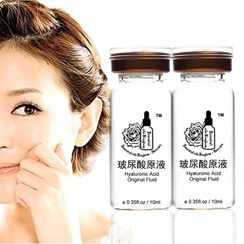Plant Gift - Ácido hialurónico-Antiarrugas ácido hialurónico natural y vitamina C eliminar regordete, hidratar, eliminar las arrugas + arrugas + Revelar la piel joven-10ML*2/0.35 * 2