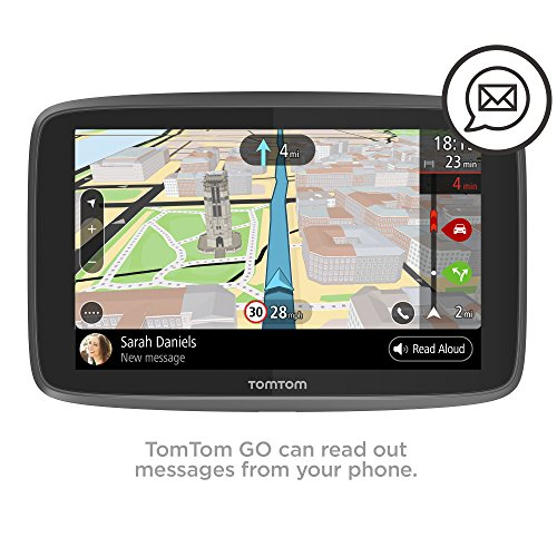 TomTom Car Sat Nav GO 620, 6 Inch with Handsfree Calling, Siri, Google Now, Updates via WiFi, Lifetime Traffic via Smartphone and World Maps, Smartphone Messages, Capacitive Screen