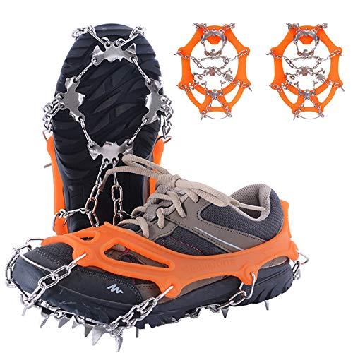 la Chasse et la Marche en Hiver la Glace Les Randonn/ées Unigear Crampons pour Chaussures Antid/érapant avec Crampons en Acier Inoxydable /à 18 Dents pour la Neige