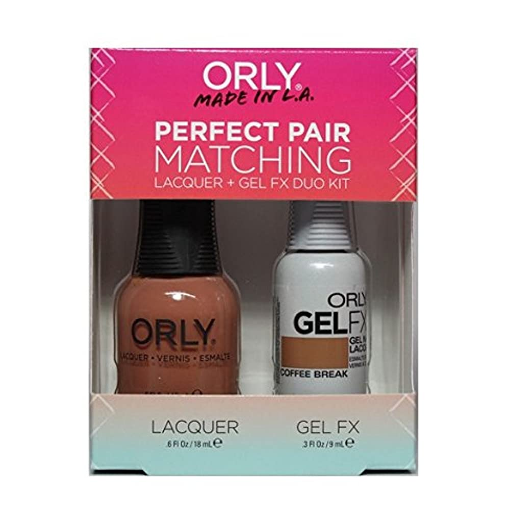 提供するおびえた従順Orly - Perfect Pair Matching Lacquer+Gel FX Kit - Coffee Break - 0.6 oz / 0.3 oz