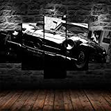 XIAYF Coche clásico Mercedes W186 Cuadro en Lienzo 5 Piezas Impresión Artística Material no Tejido, HD Pintura Arte Marco Lienzo Decorativo Sala Dormitorios Modernos Póster (150 x 80 cm)