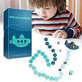 WINBST Juego de mesa de aprendizaje temprano, aventuras del mar profundo, búsqueda del tesoro, viaje, juego de mesa en inglés, inteligencia, regalo para niños y familias, partido 2 – 6