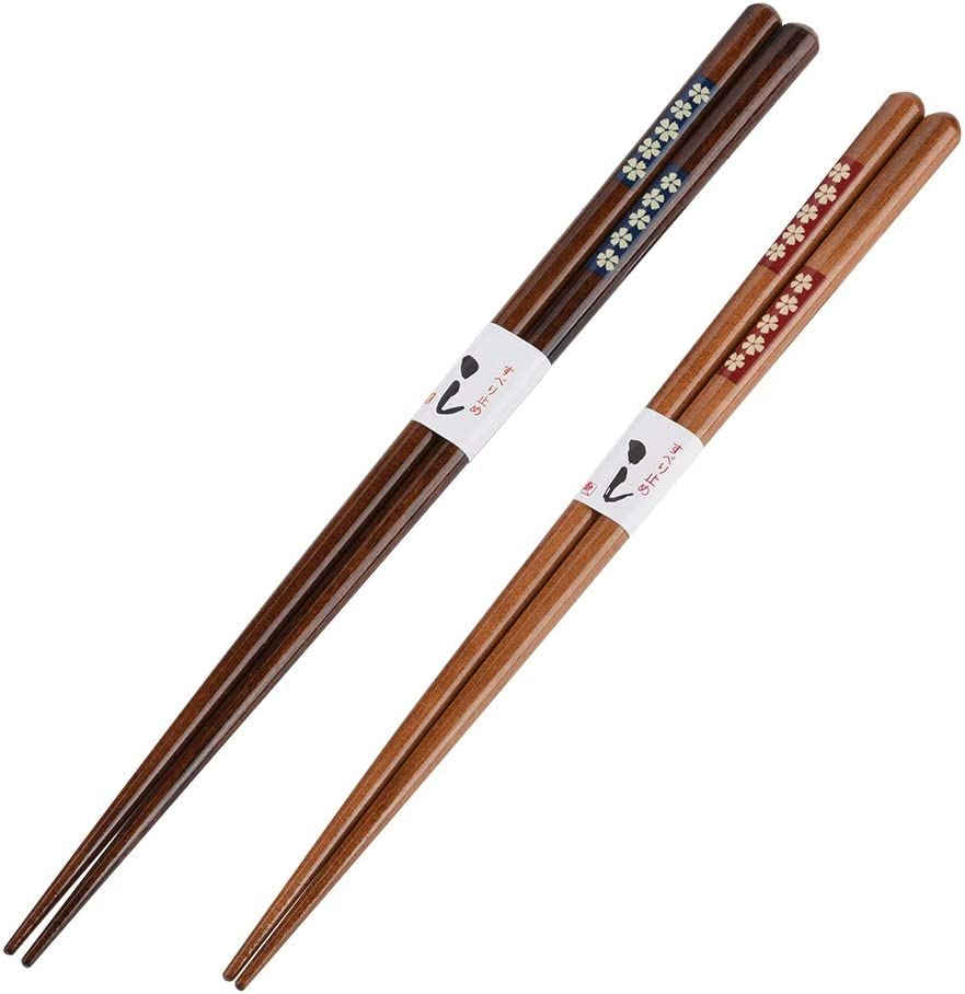 posate riutilizzabili Set bacchette portatili Bacchette in stile giapponese per hotel per uso domestico Cherry blossoms Bacchette per sushi