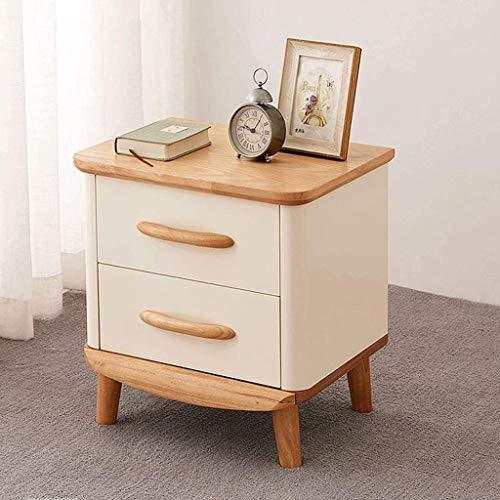 File cabinets Nachttisch mit Schubladen, Nachttisch mit 2 Schubladen, für Wohnzimmer, Sofa, Beistelltisch (Farbe: Beige)