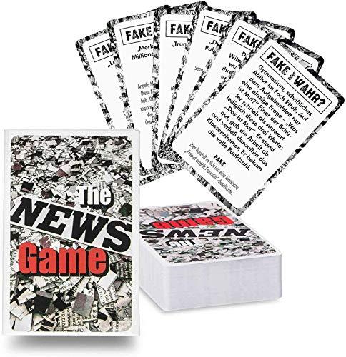 GOODS+GADGETS The News Game Kartenspiel Partyspiel - REAL oder Fake News? Das Gesellschaftsspiel Quartett mit den schier unglaublichsten Geschichten! Mit riesigem Spiele-Umfang mit 120+ Karten