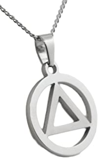Rush Industries 12 Step Recovery Pendant Stainless Steel Necklace AA Unisex