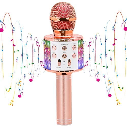 CYY Karaoke Wireless Microphone Toys for 3 12 Years Old Kids Bluetooth Portable Microphone Speaker product image
