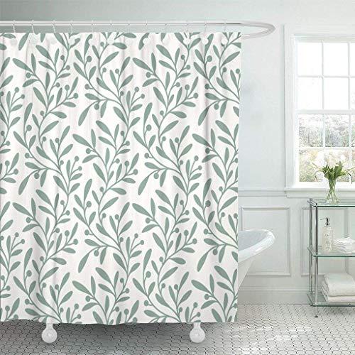 N\A Stoff Duschvorhang mit Haken Olivgrün Zweig Blatt Pflanze Row Grove Tree Zusammenfassung Biologisches dekoratives Badezimmer behandelt, um Einer Verschlechterung durch Mehltau zu widerstehen