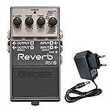 Boss RV-6 Reverb Pedal Studio-Hall + keepdrum 9V Netzteil