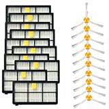 OxoxO 3 Side Brushes and HEPA Filters Replacement For Roomba 800...