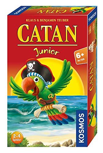 Kosmos 711474 - CATAN Junior Mitbringspiel, kompaktes Brettspiel für Kinder ab 6 Jahren, Strategiespiel für 2 - 4 Spieler, Geschenk für den Kindergeburtstag