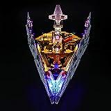 LIGHTAILING Conjunto de Luces (Star Wars First Order Star Destroyer) Modelo de Construcción de Bloques - Kit de luz LED Compatible con Lego 75190 (NO Incluido en el Modelo)