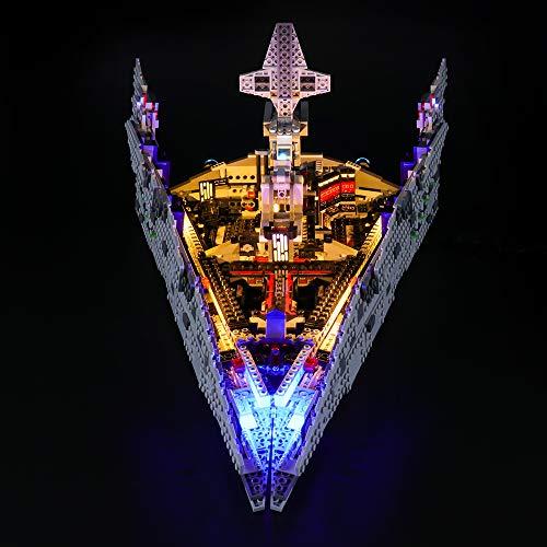 LIGHTAILING Set di Luci per (Star Wars First Order Star Destroyer) Modello da Costruire - Kit Luce LED Compatibile con Lego 75190 (Non Incluso nel Modello)