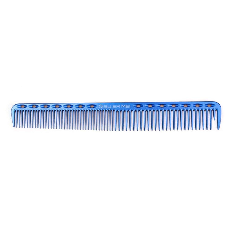 話をするアクティブ高揚した女性または人の毛の切断のための航空アルミニウム櫛、良い毛のための帯電防止毛の櫛 モデリングツール (色 : 青)