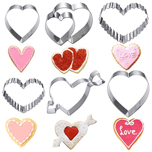 Stainless Steel Cookie Cutters Assorted Heart Shape