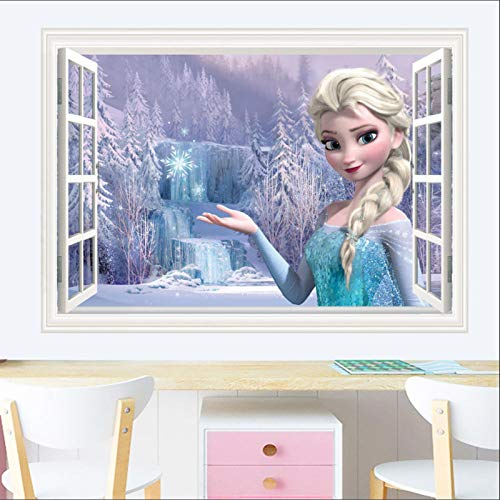 ncvoslsdif 50X70CM 41 Pared 3D para Niños Habitación De Princesa Papel De Dibujos Animados Pintura Autoadhesiva Fondo De Sala De Estar Vinilos De Pared Decorativos Pegatinas Pared Decorativas
