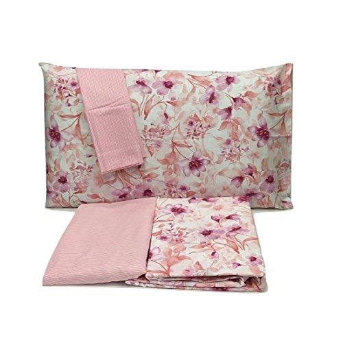 Zucchi Bettwäsche Infusion Pink V.1Doppelbett (Bettlaken 240x 280+ Bettlaken 175x 200+ 4Kissenbezüge 50* 80)