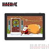 Haehne 7 Pouces Tablette Tactile, Android 9.0 certifié par Google GMS, 1Go RAM 16Go ROM Quad Core Tablet PC, 1024*600 HD, Double Caméras, WiFi, Bluetooth, pour Enfants & Adultes, Noir
