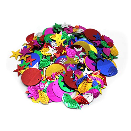 Creative Arts by Charles Leonard Glittering, Sequins with Spangles, 4 Ounce Bag (40425)