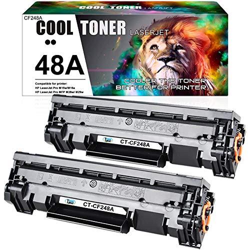 Cool Toner Kompatibel für HP CF244A 44A Tonerkartusche Replacement für HP Laserjet Pro M15w M15a, MFP M28w M28a, M15 M28 M29 M16 Drucker, 2 Pack, Schwarz, MIT CHIP