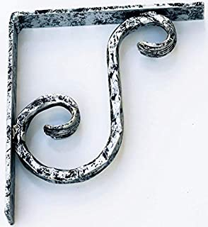 Premiere Decorative Corbels- Small Pewter S - Metal Corbel 1pc | Decorative Wrought Iron Corbel |Countertop Support | Corbel Brackets | Corbels Decorative | Corbel Brackets | Countertop Brackets
