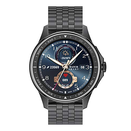 BNMY Smartwatch Llamada Bluetooth Reloj Inteligente Impermeable con Monitor Frecuencia Cardíaca Monitor Sueño Podómetro Seguimiento Actividad Física con Pantalla Táctil para Android iOS,D