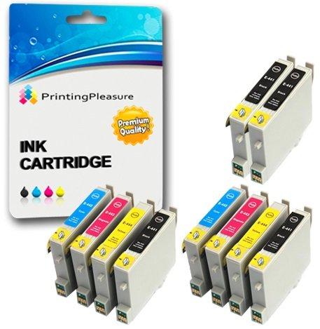 10 Druckerpatronen für Epson Stylus C64, C66, C66 Photo Edition, C68, C84, C84N, C84WN, C86, CX3600, CX3650, CX4600, CX6400, CX6600 | kompatibel zu Epson T0441, T0442, T0443, T0444 (T0445)