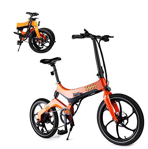 HOMERIC Elektrofahrrad 20 Zoll, E-Bike Klapprad Anfahrhilfe, 7 Gänge, Fahrunterstützung 25 km/h, Reichweite 100 km Elektrofahrräder mit 7,8 Ah Batterie Klappräder Faltrad 250W elektrisches