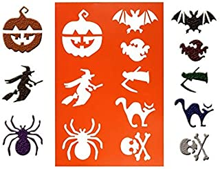 LLJEkieee 1 PC DIY Halloween Cake Coffee Stencils Spray Mold Decorating Print Modeling for use with fondant cakes,suger paste,petal paste,marzipan DIY cooking (C)