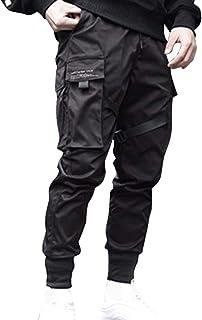 Litthing Hombres Pantalones de Carga,Pantalón Cargo Casuales,Pantalones de Combate Holgados, Pantalone de Trabajo,Pants Su...