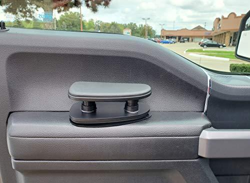 TRUE LINE Automotive Black Soft Adjustable Height Memory Foam Car Door Armrest Elbow Cushion Comfort Pillow Pad