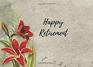 Happy Retirement: Special guestbook keepsake for your guests to write in at your special farewell event.