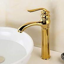 stile nero 2 Rubinetti per lavabo neri opachi Lavabo moderno oro spazzolato Rubinetto design vuoto Lavello per bagno Gru Miscelatore per acqua calda fredda