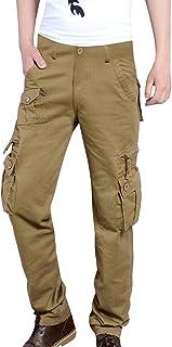 Xmiral Pantaloni da Lavoro Uomo, Cargo Combat Pantaloni Lavoro Solidi per Esterno Multitasche