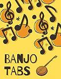 Banjo Tabs: Partituras de papel en blanco para canciones y acordes de Banjo | Banjo Taccuino | Cuaderno De Tablatura Para Banjo  (Escriba su propia música de la tablaturas de la Banjo!)