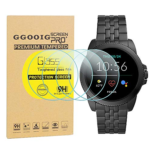 GGOOIG 4-Pack for New Fossil Men's Gen 5E 44mm Screen Protector, 2.5D 9H Hardness Tempered Glass Screen Protector for Fossil Men's Gen 5E 44mm Smartwatch