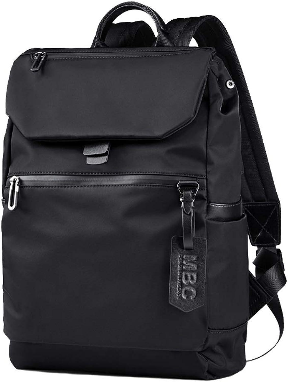 Men's Casual USB Charging Black Backpack, WearResistant Polyester Breathable Travel Bag Men's Business Daypack Student Bag Camping Hiking Waterproof Rucksack Sports Fitness Knapsack Bookbag