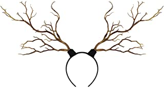 Long Antlers Tree Branches Horns - DIY Art Headband Decor Costume Headwear - Cosplay Party Fancy Dress-Up Accessories - Mysteric Fairy Tale Style (Wooden, One Size)