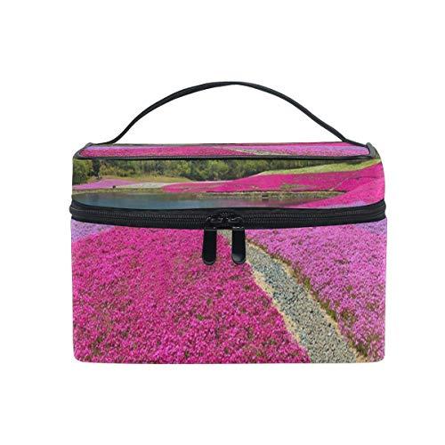 Bolsa de cosméticos de Flores japonesas Bolsa de tocador Grande portátil para Mujeres/niñas Bolsa de Maquillaje de Viaje