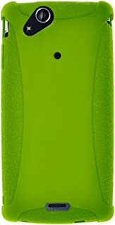 Amzer Silicone Skin Jelly Case for Sony Ericsson Xperia arc - 1 Pack - Green