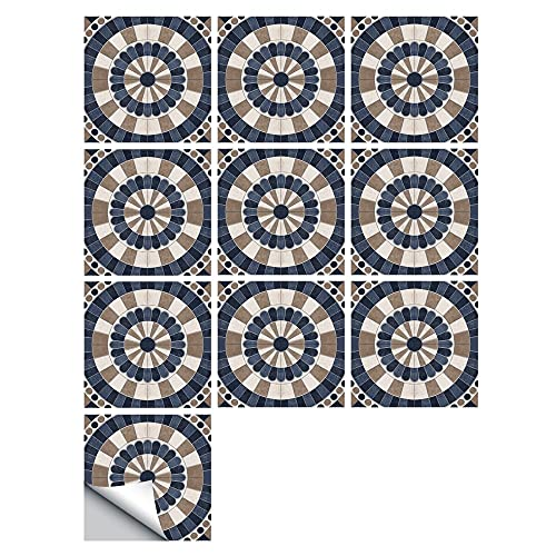 Fawyhr 10 unids/set azulejos helados Pequeño Pegatinas de pared Cocina Cuarto de baño Dormitorio Tapel tapiz antideslizante Espesor impermeable PVC mármol arte mural Hermosa Casa