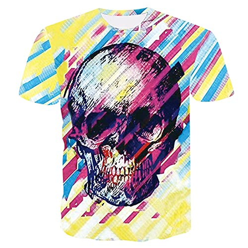 XDJSD Camiseta para Hombre Camiseta Corta Camiseta De Manga Corta para Hombre Camiseta De Gran Tamaño para Hombre Camiseta Casual De Color Sólido Camiseta con Estampado De Tigre