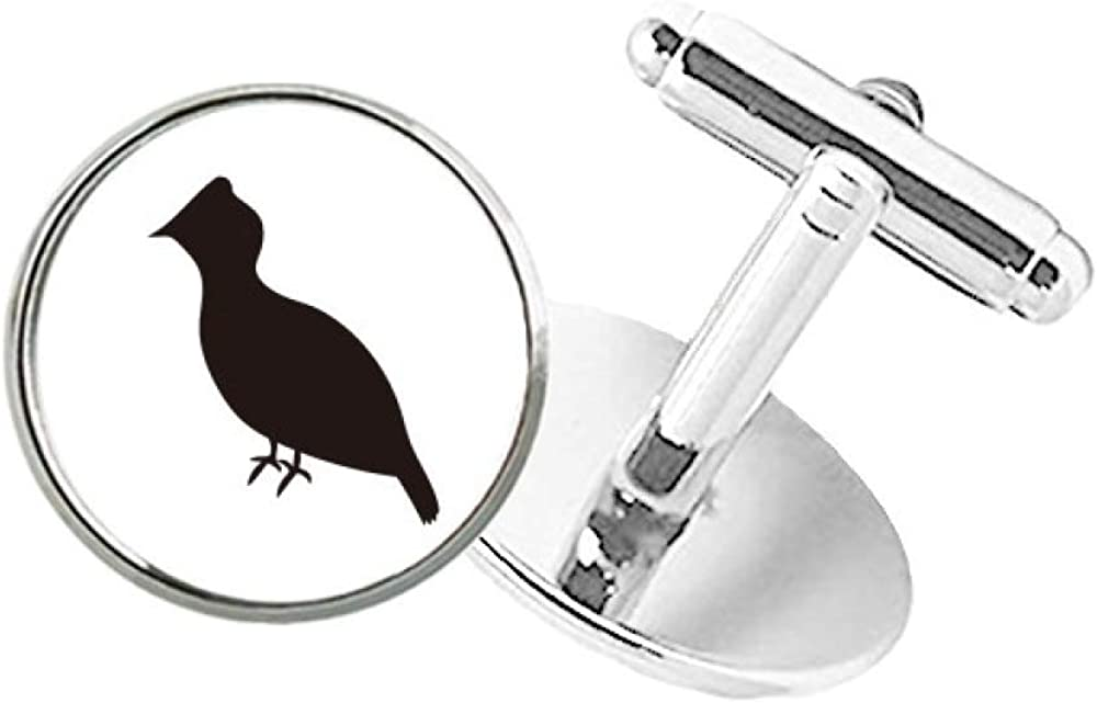 DIYthinker Challenge the lowest price of Japan ☆ Black Grouse Sale special price Animal Portrayal Round Button Cuff Clip