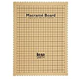 The Beadsmith Mini Macrame Board, 11.5 x 15.5 inches, 0.5-inch-Thick Foam, 10x4' Grid for Measuring, Bracelet Project with Instructions Included, Create Macrame and Knotting Creations