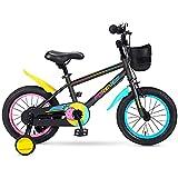 QSYY Bicicletas para Niños, Bicicletas De Equilibrio para Exteriores para Niñas De 2 A 7 Años, Bicicletas para Niños con Ruedas Auxiliares Y Frenos, Especiales para Competiciones,16''