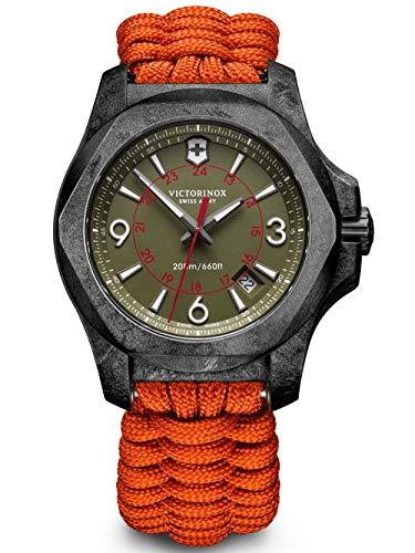 VICTORINOX SWISS ARMY Herren Uhr Analog Quarz mit Stoff Armband 241800,1